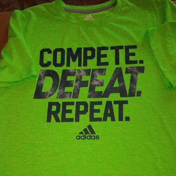 adidas t-shirt neon
